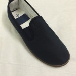Navy slip on pumps