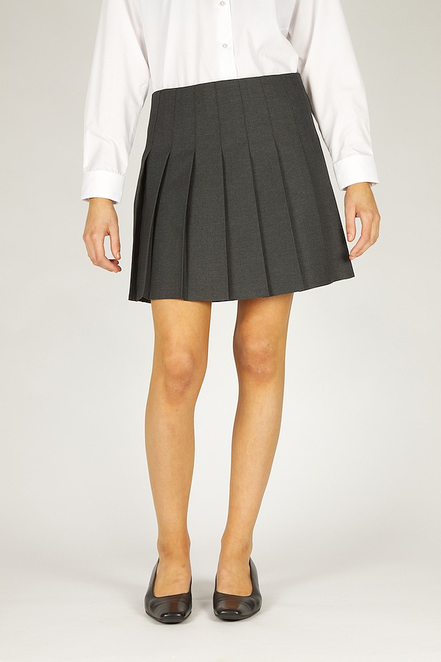 ceec198861 ... stitch down pleat skirt. GPB grey skirt