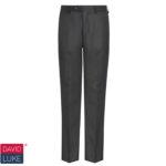 DL943 Black senior flat front trousers (PL 15)