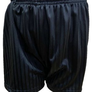 black pe shorts new