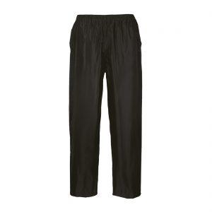 black rain trousers